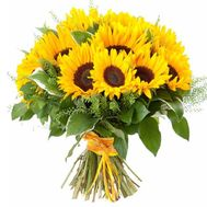 Bouquet of 19 sunflowers - flowers and bouquets on roza.od.ua
