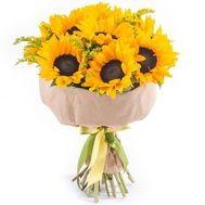 Bright bouquet of sunflowers - flowers and bouquets on roza.od.ua