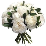 15 white pions - flowers and bouquets on roza.od.ua