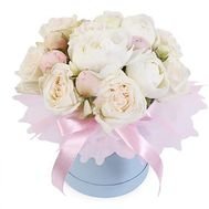 15 white peonies in a box - flowers and bouquets on roza.od.ua