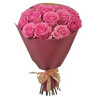 15 pink roses 70 cm - flowers and bouquets on roza.od.ua