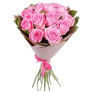15 pink roses - flowers and bouquets on roza.od.ua