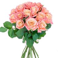 17 peach roses - flowers and bouquets on roza.od.ua