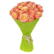 25 peach roses - flowers and bouquets on roza.od.ua