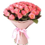 39 peach roses - flowers and bouquets on roza.od.ua