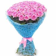 65 pink roses - flowers and bouquets on roza.od.ua
