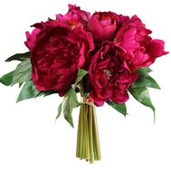 """Bouquet of claret pions"" in the online flower shop roza.od.ua"