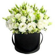 """Bouquet eustoma in a box"" in the online flower shop roza.od.ua"