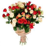 Bouquet of 11 bush roses - flowers and bouquets on roza.od.ua