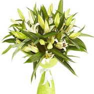 Bouquet of 11 lilies - flowers and bouquets on roza.od.ua