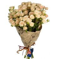 Bouquet of 13 bush roses - flowers and bouquets on roza.od.ua