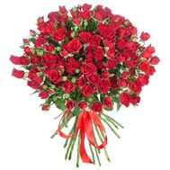 Bouquet of 17 cluster red roses - flowers and bouquets on roza.od.ua