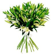 Bouquet of 17 lilies - flowers and bouquets on roza.od.ua