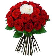 Букет из 25 роз - Жемчужина - цветы и букеты на roza.od.ua