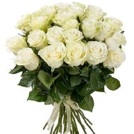 Bouquet of 29 white roses - flowers and bouquets on roza.od.ua
