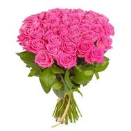 Bouquet of 29 pink roses - flowers and bouquets on roza.od.ua