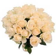 Bouquet of 33 white roses - flowers and bouquets on roza.od.ua