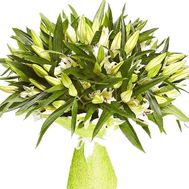 Bouquet of 35 lilies - flowers and bouquets on roza.od.ua