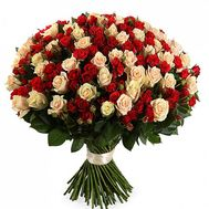 Bouquet of 55 bush roses - flowers and bouquets on roza.od.ua