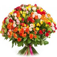 Bouquet of 99 bush roses - flowers and bouquets on roza.od.ua