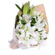 Bouquet of lilies and alstromeries - flowers and bouquets on roza.od.ua