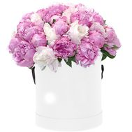 Peonies in a Hat Box - flowers and bouquets on roza.od.ua