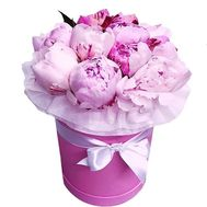 Pink peonies in a box - flowers and bouquets on roza.od.ua