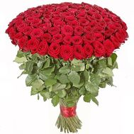 101 imported rose 1m. - flowers and bouquets on roza.od.ua