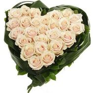 25 white roses - flowers and bouquets on roza.od.ua