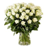 45 imported white roses - flowers and bouquets on roza.od.ua