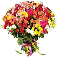 Bouquet of 101 bush roses - flowers and bouquets on roza.od.ua
