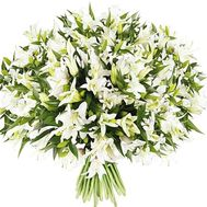 Bouquet of 101 lilies - flowers and bouquets on roza.od.ua