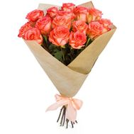 Bouquet of coral roses - flowers and bouquets on roza.od.ua