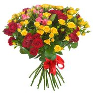 Bouquet of 23 bush roses - flowers and bouquets on roza.od.ua