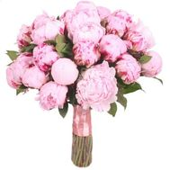 """Bouquet of 35 pink peonies"" in the online flower shop roza.od.ua"