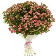 Bouquet of 51 bush roses - flowers and bouquets on roza.od.ua