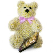 Teddy bear of flowers - flowers and bouquets on roza.od.ua
