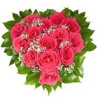 15 красных роз - цветы и букеты на roza.od.ua