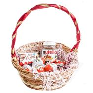 Корзина с шоколадом киндер - цветы и букеты на roza.od.ua