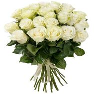 25 white imported roses - flowers and bouquets on roza.od.ua