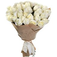 41 white rose in kaft paper - flowers and bouquets on roza.od.ua