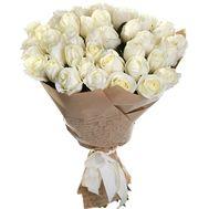 41 белая роза в бумаге - цветы и букеты на roza.od.ua