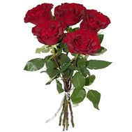 5 red roses in a bouquet - flowers and bouquets on roza.od.ua