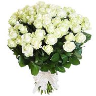 Wonderful bouquet of 65 white roses - flowers and bouquets on roza.od.ua