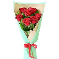Beautiful bouquet of 7 red roses - flowers and bouquets on roza.od.ua