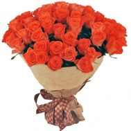 Luxury 51 orange rose - flowers and bouquets on roza.od.ua