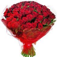 Торжественный букет красных роз - цветы и букеты на roza.od.ua