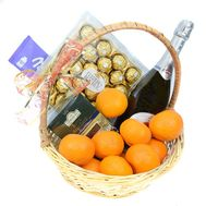 """Fruits and sweets in the basket"" in the online flower shop roza.od.ua"