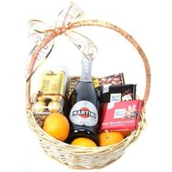 Champagne and chocolate basket - flowers and bouquets on roza.od.ua
