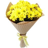 Small bouquet of yellow chrysanthemums - flowers and bouquets on roza.od.ua